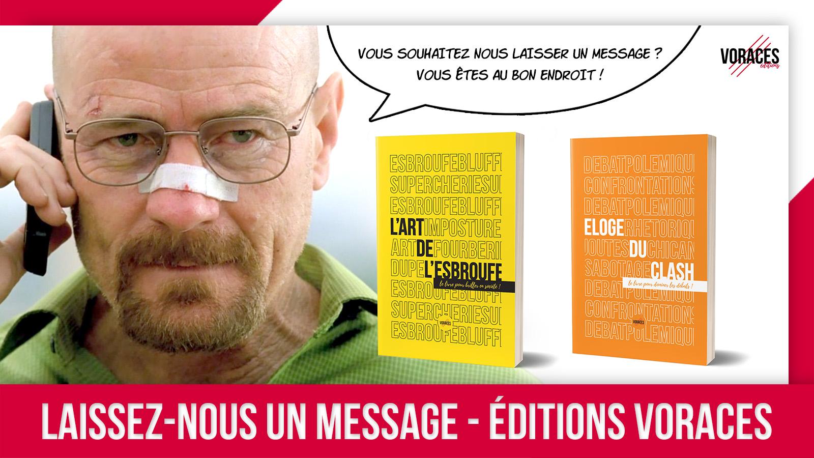 Visuel page Contact des Editions Voraces