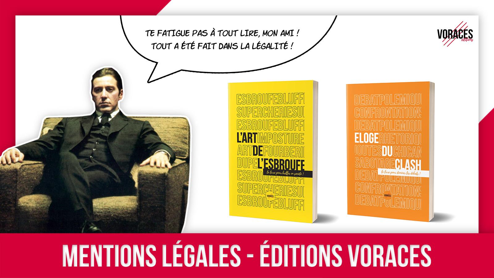 Visuel page Mentions légales des Editions Voraces